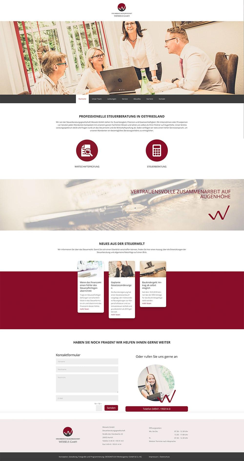 DESIGNSTUUV Werbeagentur GmbH & Co. KG | Aurich | Ostfriesland | Steuerberatungsgesellschaft Wessels GmbH