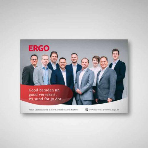 Referenzen Ergo Versicherung Anzeigengestaltung