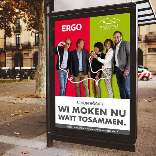 Referenzen Ergo Versicherung Plakat