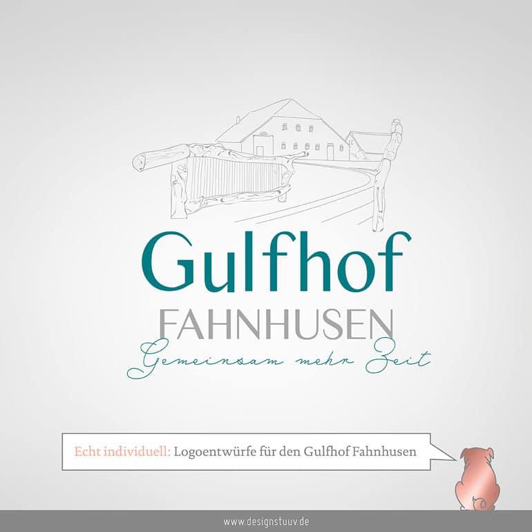 DESIGNSTUUV Gulfhof Fahnhusen Post Logoentwuerfe