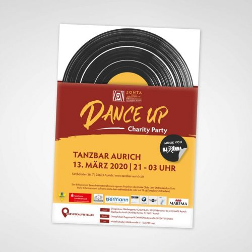 DESIGNSTUUV Referenzen Plakat Dance Up Party