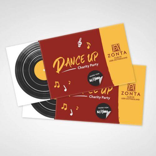 DESIGNSTUUV Referenzen Flyer Dance Up Party
