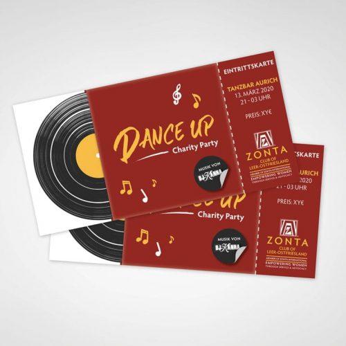 DESIGNSTUUV Referenzen Eintrittskarten Dance Up Party