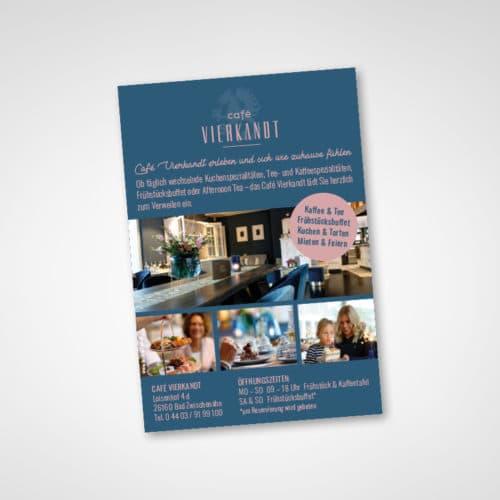Designstuuv Referenzen Cafe Vierkandt Anzeigengestaltung