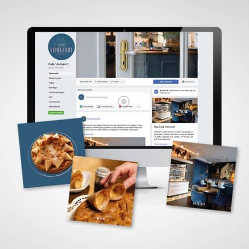 Designstuuv Referenzen Cafe Vierkandt Facebook Konzept