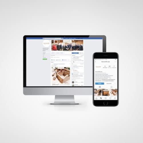 Designstuuv Referenz feinschliff Social Media
