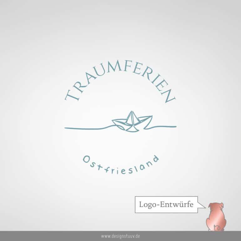 Designstuuv Logo Traumferien Ostfriesland