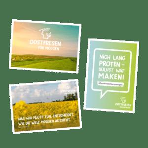 DESIGNSTUUV Referenzen Oostfresen foer moergen Engagement Postkarten