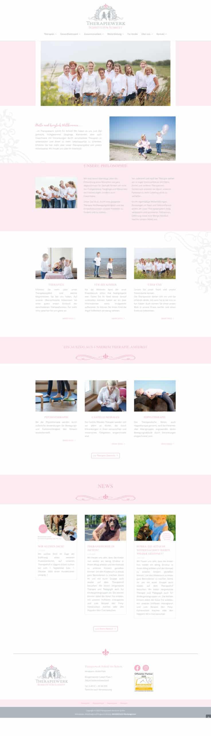 Designstuuv Referenzen Therapiewerk Website desktop