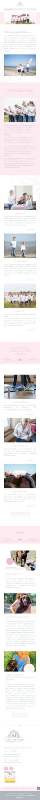 Designstuuv Referenzen Therapiewerk Website mobil
