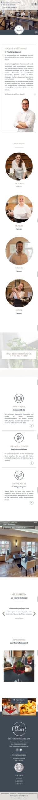 Designstuuv Referenzen Thiets Website mobil