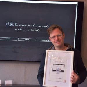 Designstuuv Zertifikat Christian Wolff