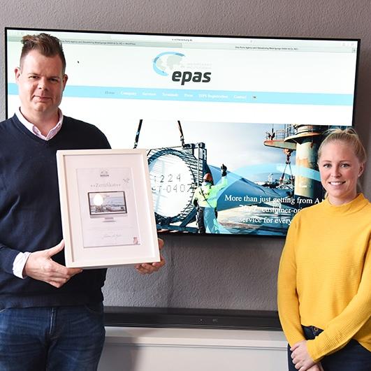 Designstuuv Epas Emden Zertifikat Website