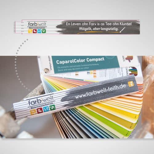 Designstuuv Referenzen farbwelt feith Werbeartikel
