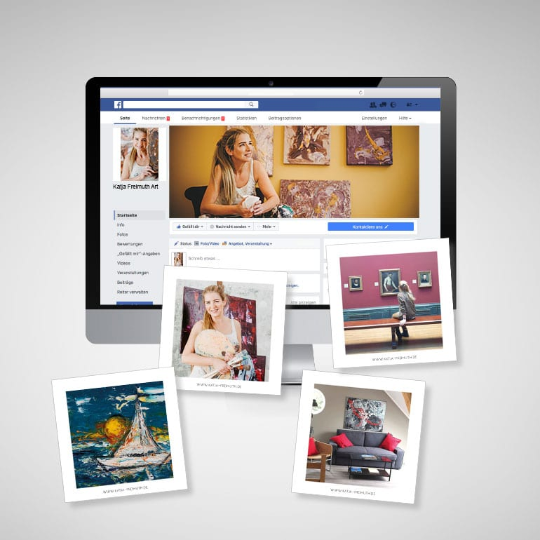 Designstuuv Referenzen Katja Freimuth Social Media Facebook