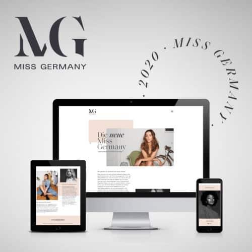 Designstuuv Referenzen MissGermany Website startbild