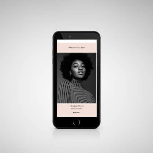 Designstuuv Referenzen MissGermany Website Phone