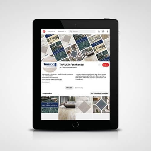 Designstuuv Referenzen Trauco Pinterest-Seite