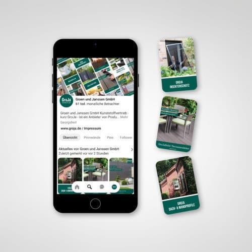 Designstuuv Referenzen GroJa Pinterest-Seite