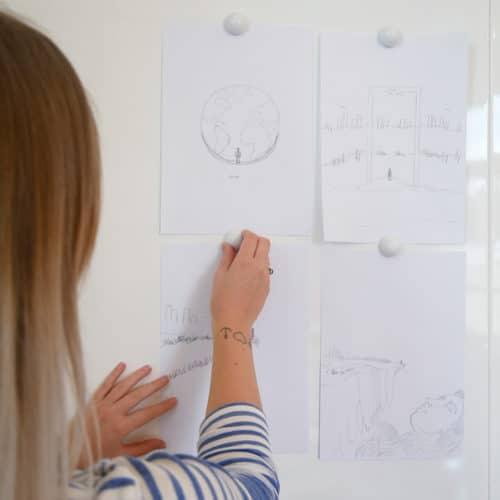 Designstuuv Werbeagentur Referenz Karin Lüppen Scribbles