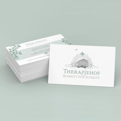 Designstuuv Werbeagentur Referenz Therapiehof Schritt für Schritt Visitenkarten