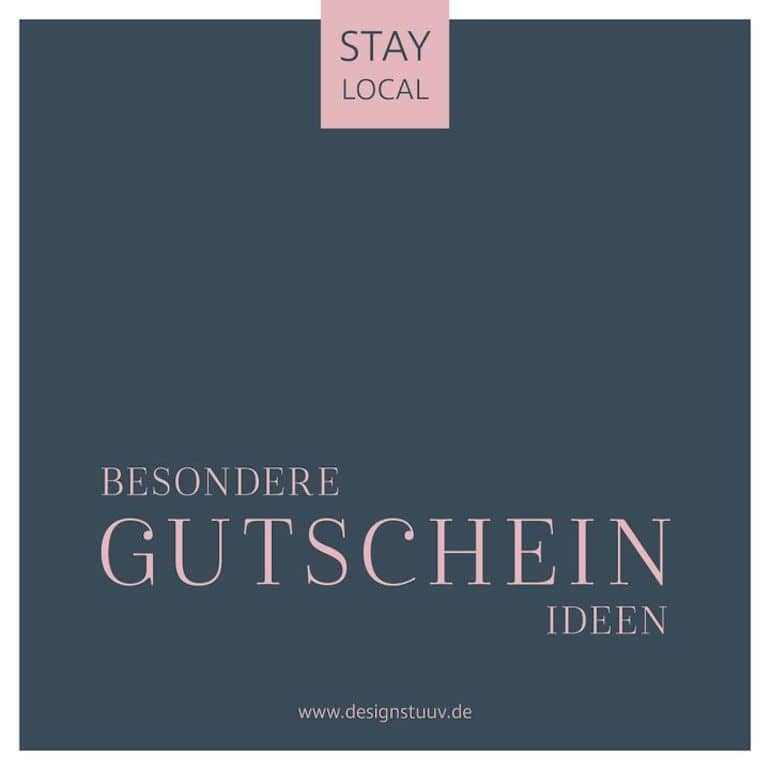 Gutscheine Ideen Designstuuv Stay Local