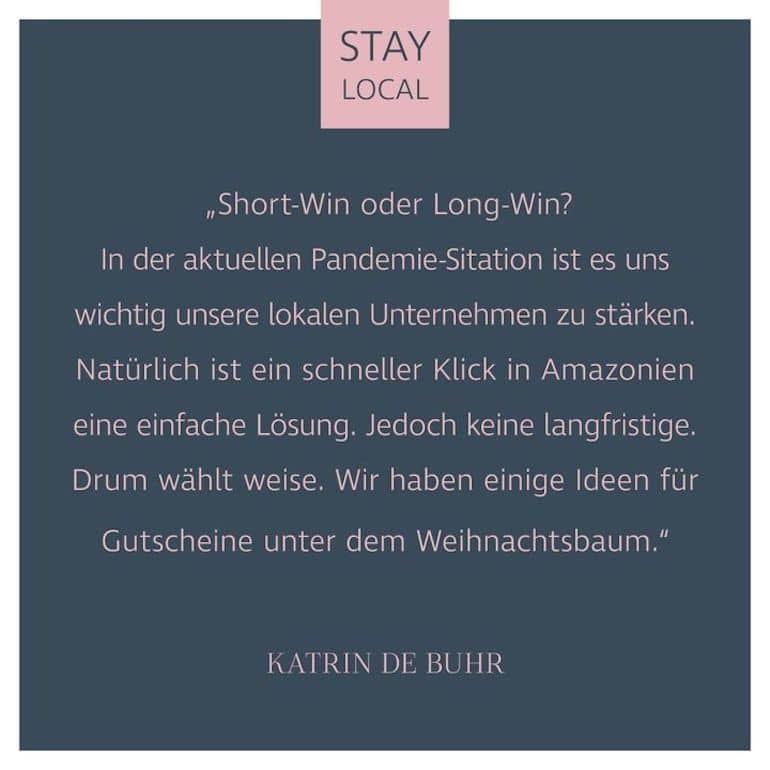 Stay Local Designstuuv Katrin de Buhr Gutscheine