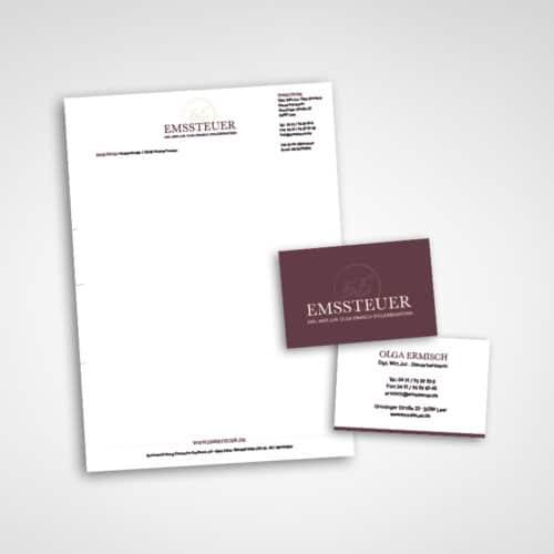 Designstuuv Werbeagentur Referenz Emssteuer Geschäftspapier