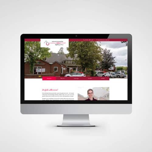 Designstuuv Werbeagentur Referenz Ambulante Tagespflege Andreas Ubben Website Desktop