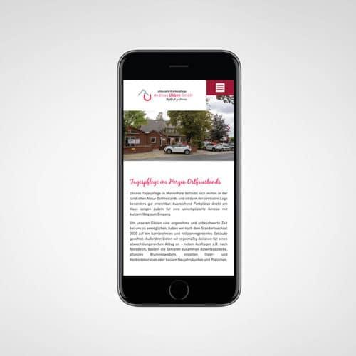 Designstuuv Werbeagentur Referenz Ambulante Tagespflege Andreas Ubben Website Mobil