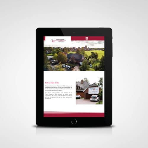 Designstuuv Werbeagentur Referenz Ambulante Tagespflege Andreas Ubben Website Tablet