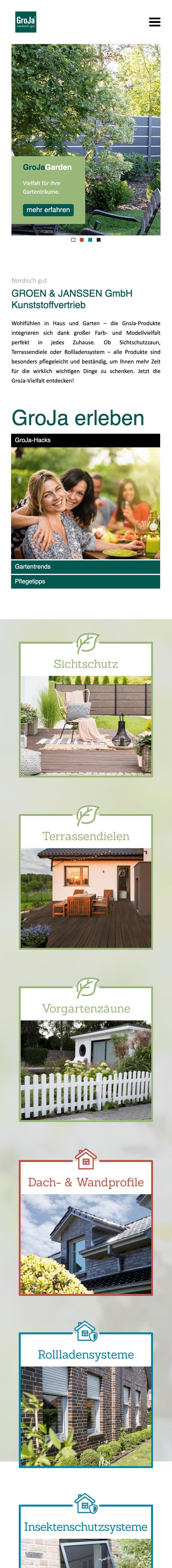 Designstuuv Werbeagentur Referenz GroJa B2C Website
