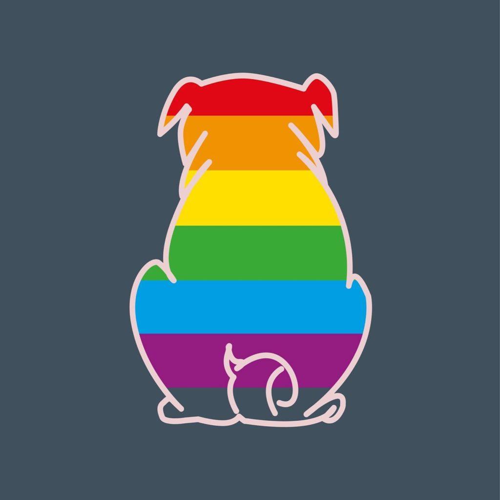 Pride Month Regenbogen Mops