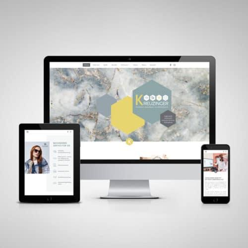 Designstuuv Referenzen Kreuzinger Website