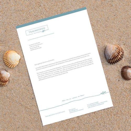 Designstuuv Referenzen Traumferien Ostfriesland Briefpapier