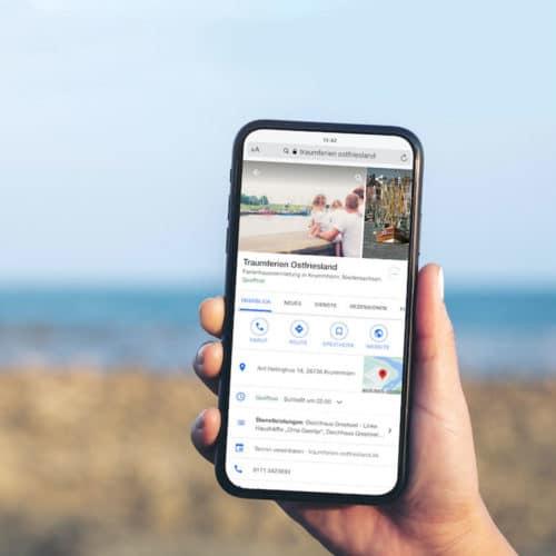 Designstuuv Referenzen Traumferien Ostfriesland Google My Business