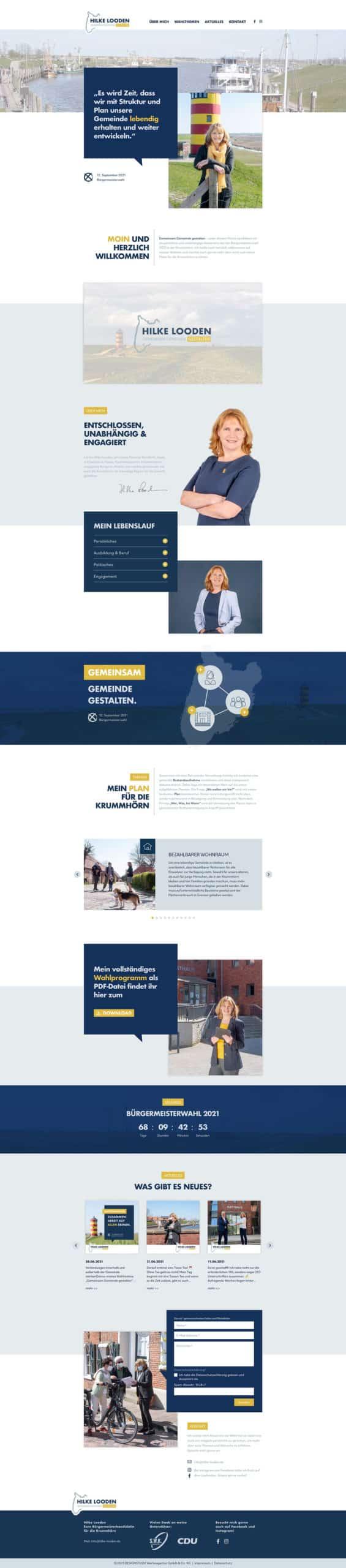 Designstuuv Referenzen Hilke Looden Website Desktop