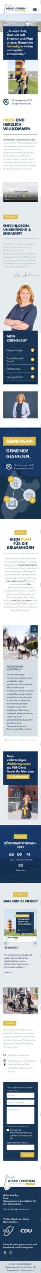 Designstuuv Referenzen Hilke Looden Website Mobil